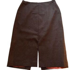 J. Crew - Polka Dot Pencil Wool Skirt